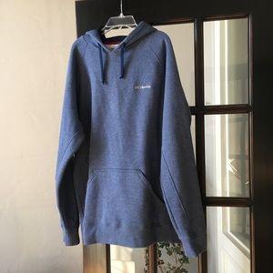 Columbia Blue Fleece Hoodie - Large